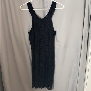 Laundry brand Black lace cocktail dress
